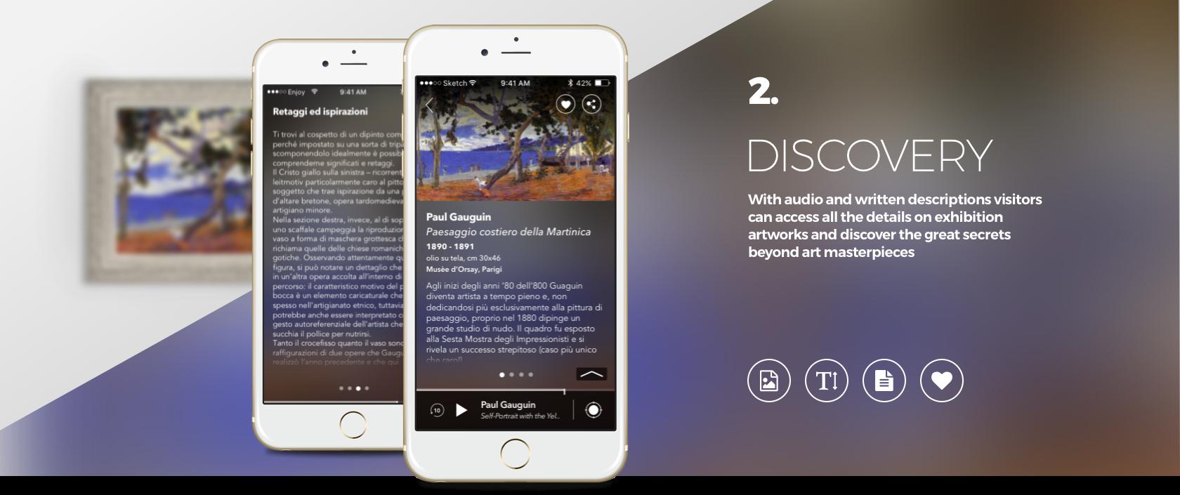 Enjoymuseum. Museum experience design - Fabio Besti - App concept 2