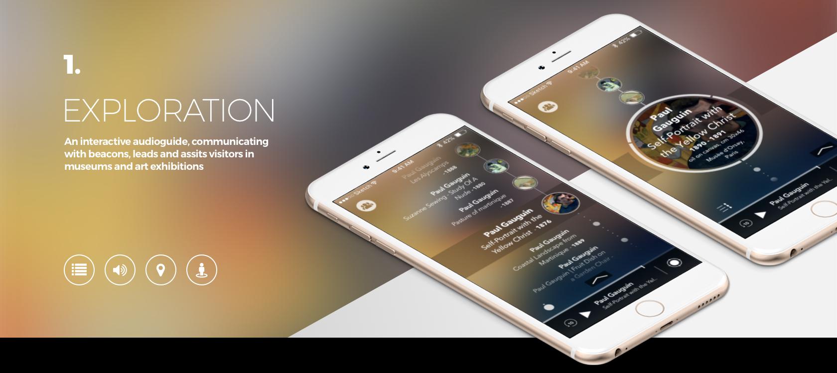 Enjoymuseum. Museum experience design - Fabio Besti - App concept 1