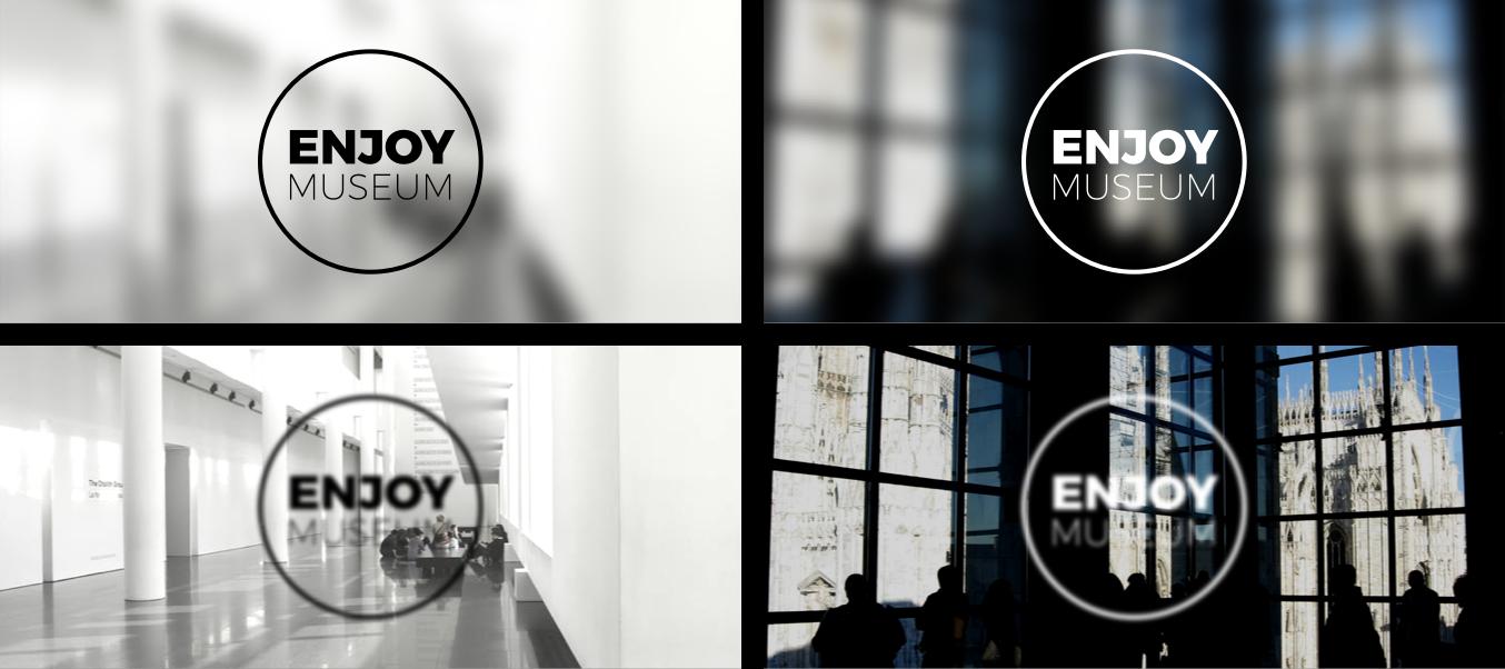 Enjoymuseum. Museum experience design - Fabio Besti - Logo and backgrounds