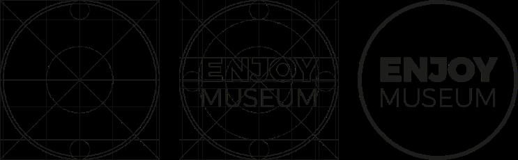Enjoymuseum. Museum experience design - Fabio Besti - Logo construction
