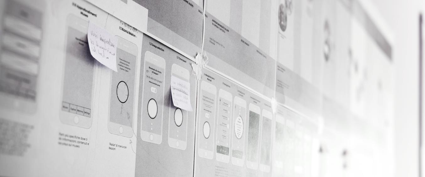 Enjoymuseum. Museum experience design - Fabio Besti - app wireframing