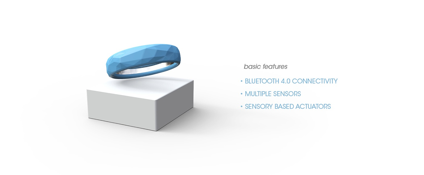 Jawbone EXO Ecosystem by Fabio Besti - EXO wristband