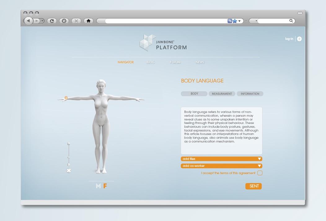 Jawbone EXO Ecosystem by Fabio Besti - platform screen 1