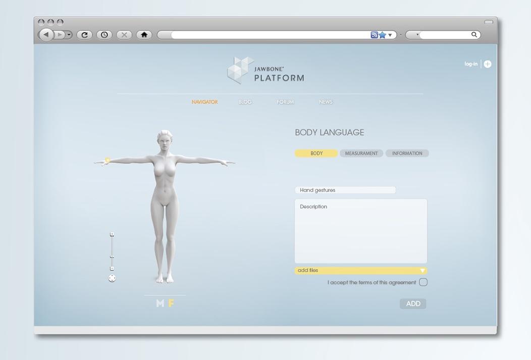 Jawbone EXO Ecosystem by Fabio Besti - platform screen 2
