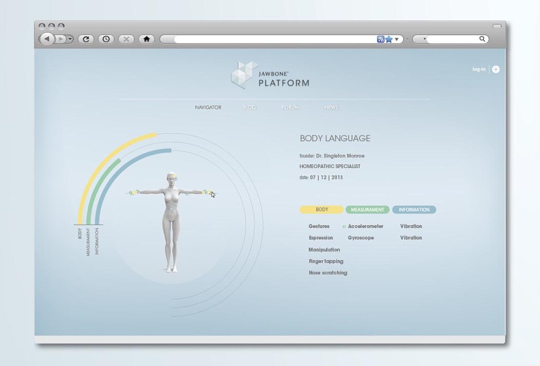 Jawbone EXO Ecosystem by Fabio Besti - platform screen 4
