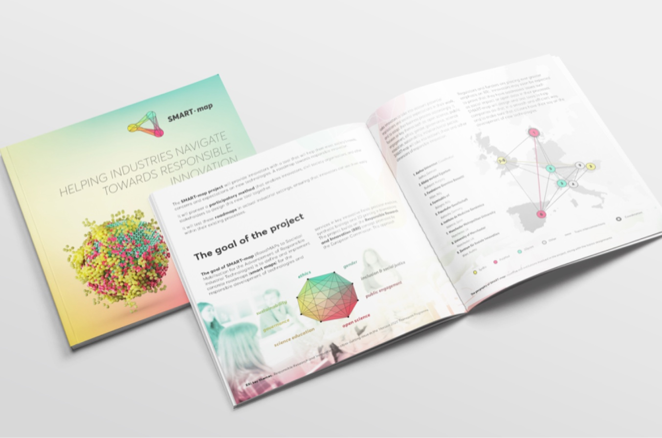 Horizon 2020 SMART-map Visual Identity - Brochure - Fabio Besti Interdisciplinary Design