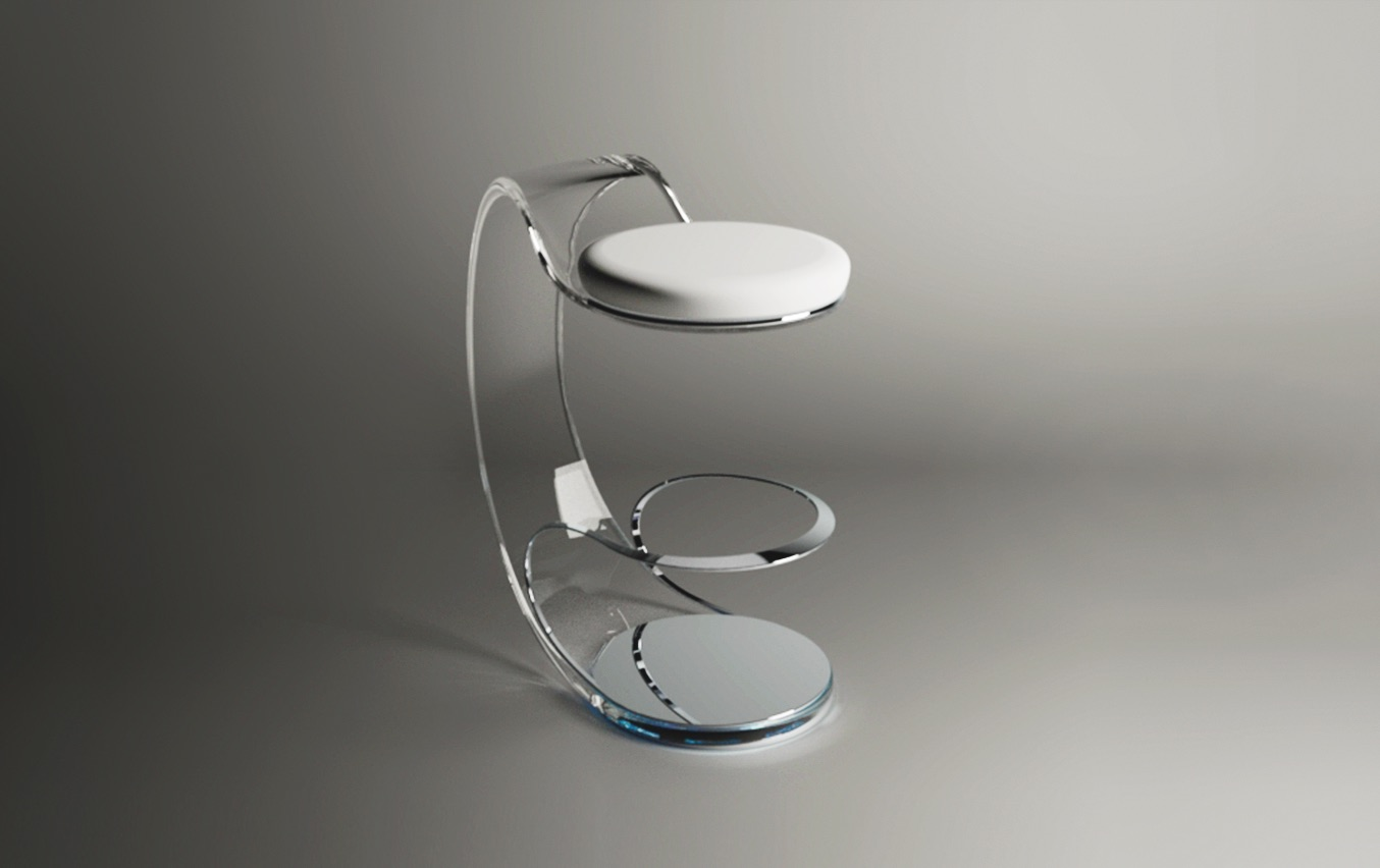 Acrilico Piezoelectric Stool by Fabio Besti Interdisciplinary Design 7