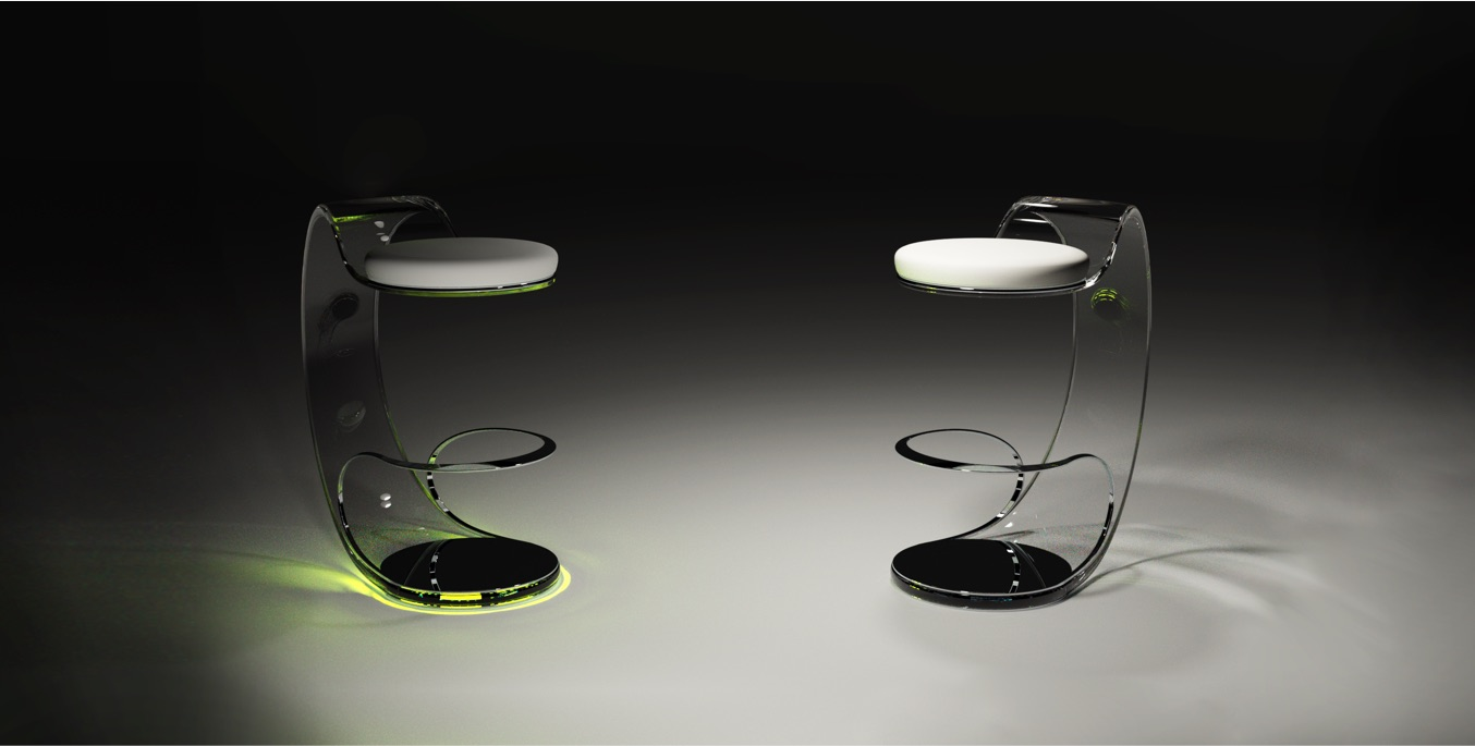 Acrilico Piezoelectric Stool by Fabio Besti Interdisciplinary Design 9