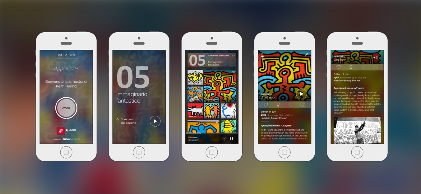 AppGuide+ Fabio Besti Interdisciplinary Design with Enjoymuseum - Keith Haring