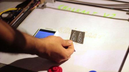 Chalkaat. Augmented Reality laser-cutter. Fabio Besti, Anirudh Sharma, Nitesh Kadyan 02765