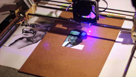 Chalkaat. Augmented Reality laser-cutter. Fabio Besti, Anirudh Sharma, Nitesh Kadyan 11219