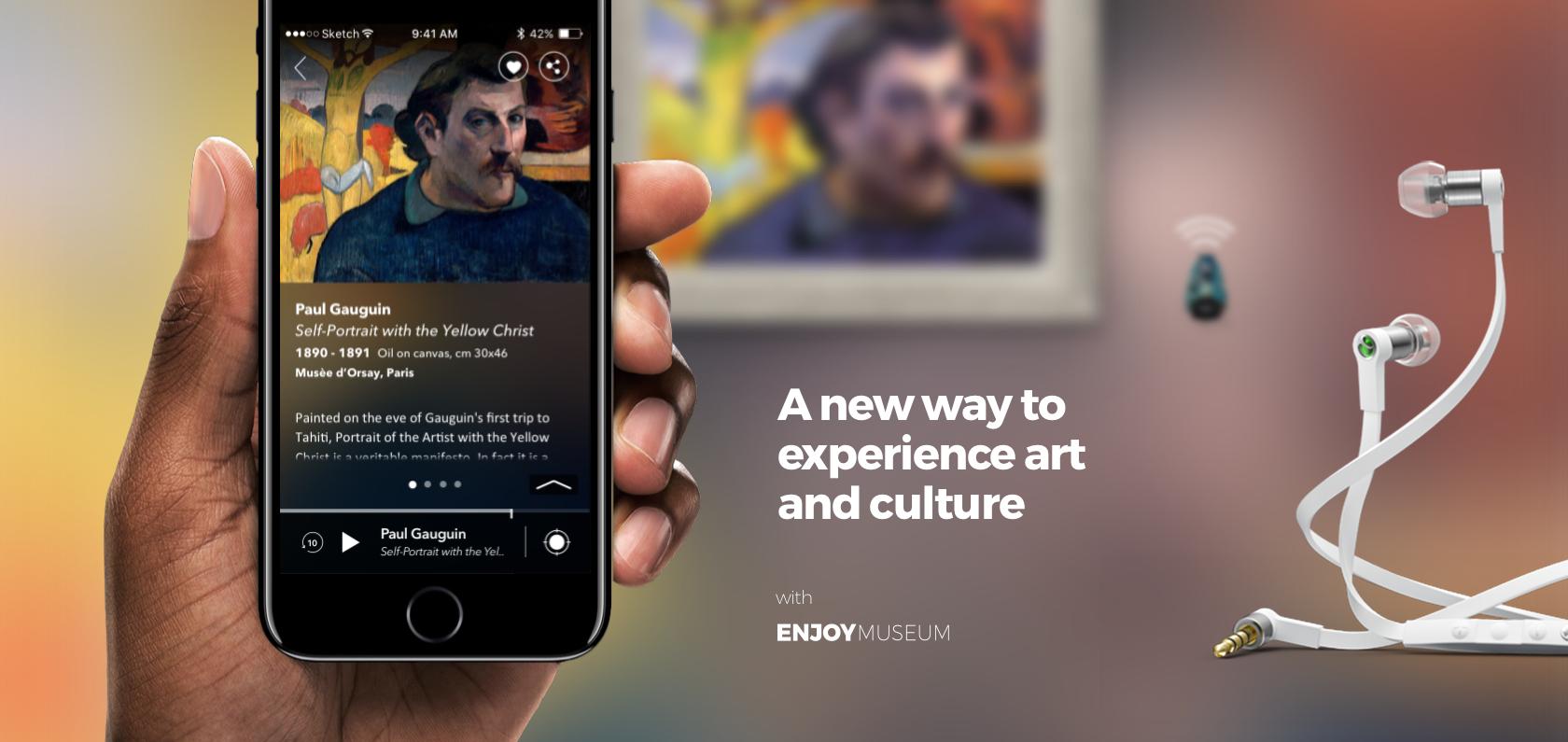 Enjoymuseum. Museum experience design - Fabio Besti - App concept