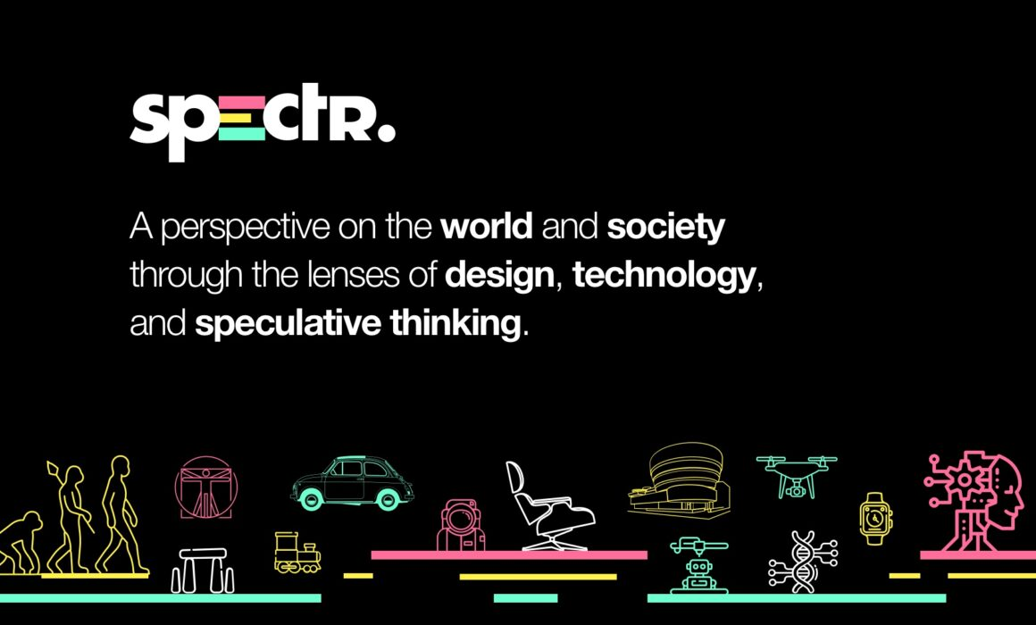 Spectr header image with graphic and illustrations